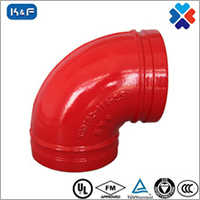ductile iron grooved pipe fittings Pipe 90 degree elbow