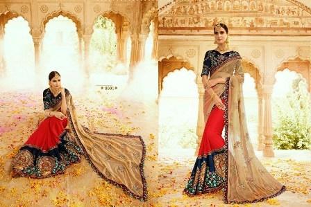 Wedding Wear Multi Coloured Saree