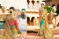 Light Coloured Festive Wear Saree