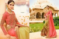 Light Coloured Awesome Wedding Wear Saree