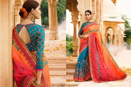 Heavy Zari Work Designer Saree