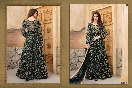 Black Embroidery Designed Anarkali Suit