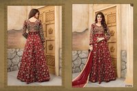 Red Embroidery Designed Anarkali Suit
