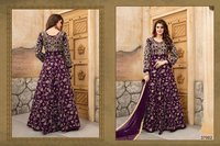 Purple Party Wear Anarkali Suit