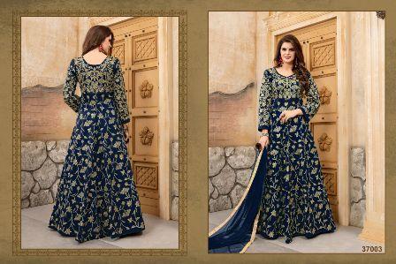 Navy Blue Wedding Wear Designer Anarkali Suit
