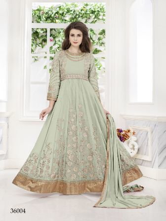 Designer Party Wear Net Anarkali Suit