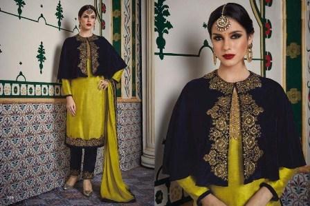 Designer Yellow Churidar Salwar Suit