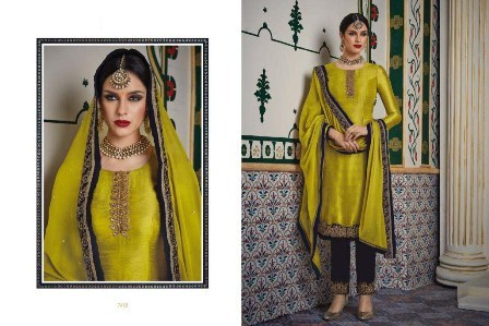 Yellow Velvet Designer Suit