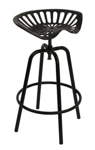 Crank Bar Stool With Tractor Seat