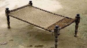 Vintage Look Wooden Charpai