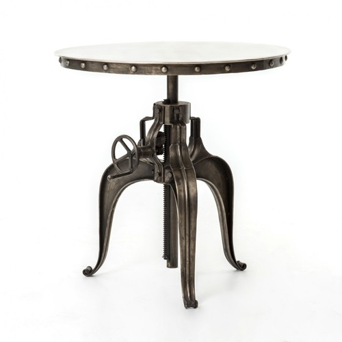 Crank Table With Metal Top