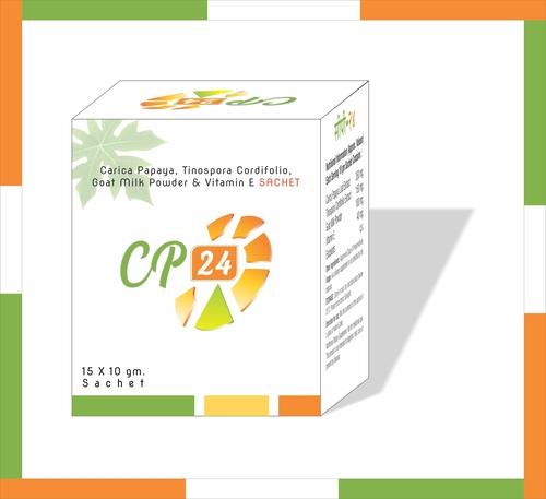 Carica Papaya, Tinospora Cordifolio, Goat Milk Powder & Vitamin E Sachet