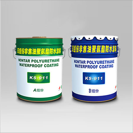 Aquacoat KS-911 Nontar two-component polyurethane waterproof coating