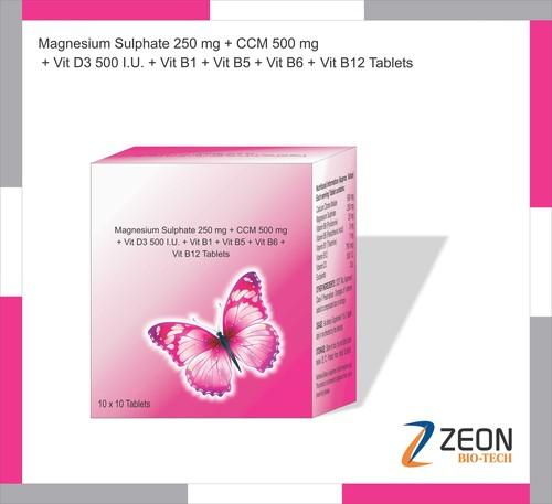 Magnesium Sulphate, Ccm, Vit D3,vit B1, Vit B5, Vit B6 & Vit B12