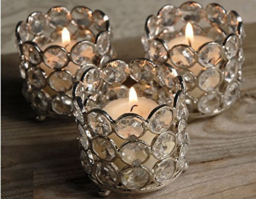 Wholesale Bulk 50 Pcs Lot Glass Crystal Tealight