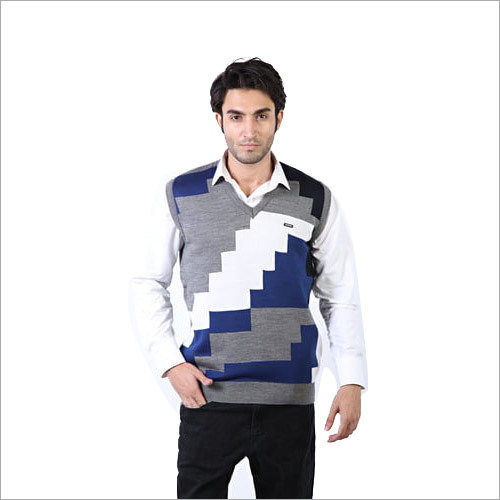 Mens Half Sleeves Designer Sweater