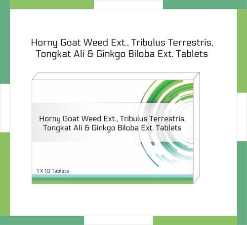Horny Goat Weed Ext., Tribulus Terrestris, Tongkat Ali, Gingko Biloba Ext. Tablet