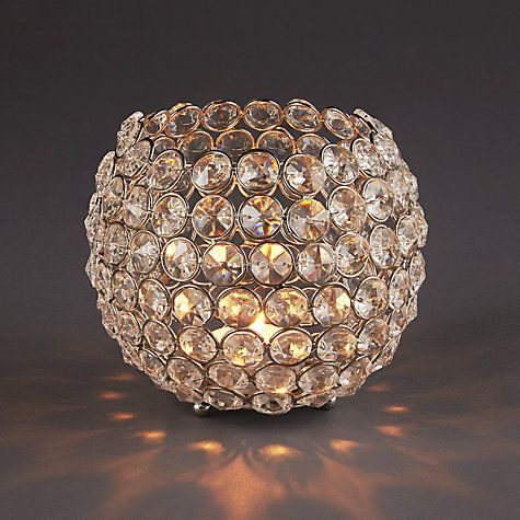 Crystal Bead Candle Bowl