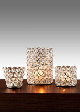 Sparkly Crystal Bead Tea Light & Votive candel Holders
