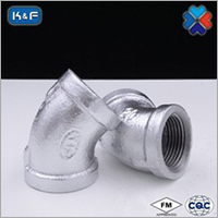 Galvanized Malleable Iron Pipe 45 degree Elbow