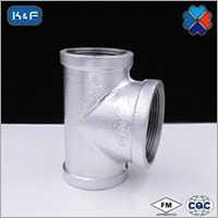 Galvanized Malleable Iron Pipe Fitting Bullhead Tee