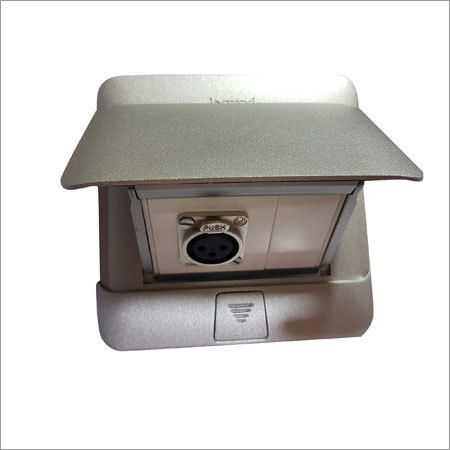 Manual Floor Box Available in 4,6,8,10Module Available in Silver Can Be Used On Table or Floor