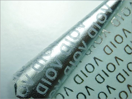 Matte Silver Void Security Labels