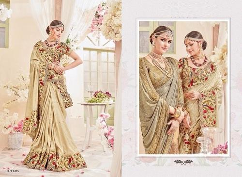 Heavy Work With Digital Print Designer Saree