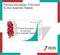 Ferrous Ascorbate, Folic Acid with Zinc Supplement Tablets