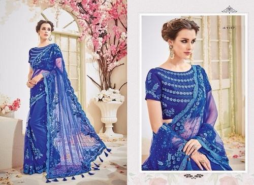 Heavy Designer Work Net Saree