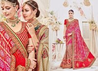Heavy Bridal Bandhej Designer Saree