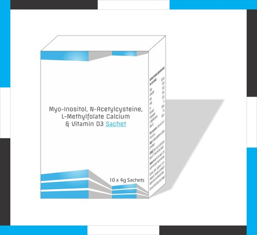 Myo Inositol, N-Acetylcysteine L-Methyl Folate, Calcium & vitamin D3 Sachet