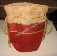 Decorative Jute Pouch