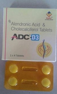 ALENDRONIC ACID 70 MG + Cholecalciferol 70 mcg. (equl. To 2800 IU Vit. D3)