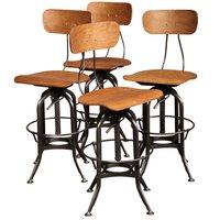 Industrial Adjustable Height Industrial Bar Chair & Stool Set