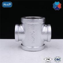 Galvanized Malleable Iron Pipe Reducing Cross -