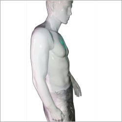 Men White Glossy Display Dummy