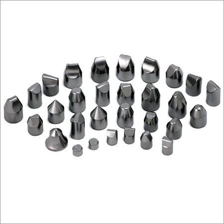 Tungsten carbide buttons for DTH drill bits