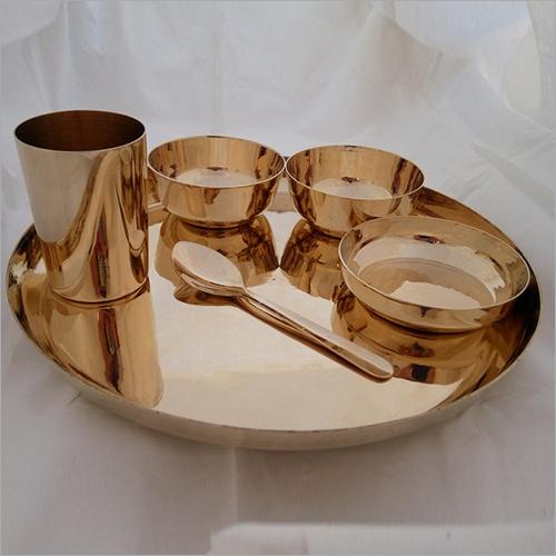 Bronze, kansa Dinner Set Begi Plate 6 Pieces