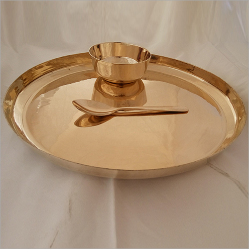 Bronze, kansa Dinner Set  Begi Plate 3 Pieces