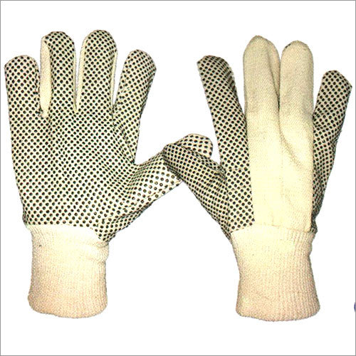 Polka Dotted Drill Gloves