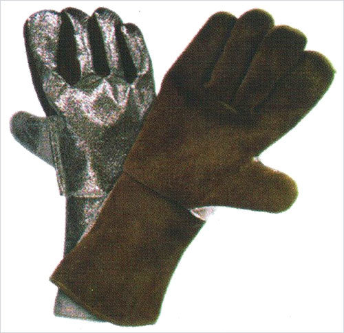 Aluminized Leather Gloves