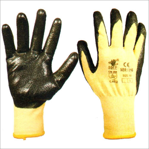 Nitrile Coating On Kevlar Gloves