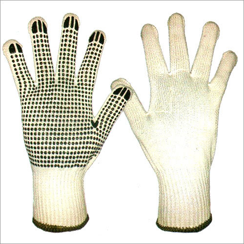 Polyester Knitted Gloves With PVC Dots