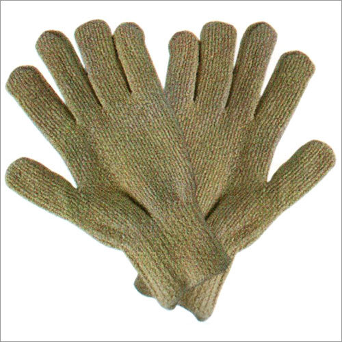 Terry 100 Percent Cotton Seamless Knitted Gloves