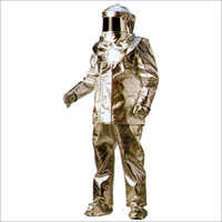 Full Body Aluminized Suit Two Pieces Stitched With Kevlar Thread