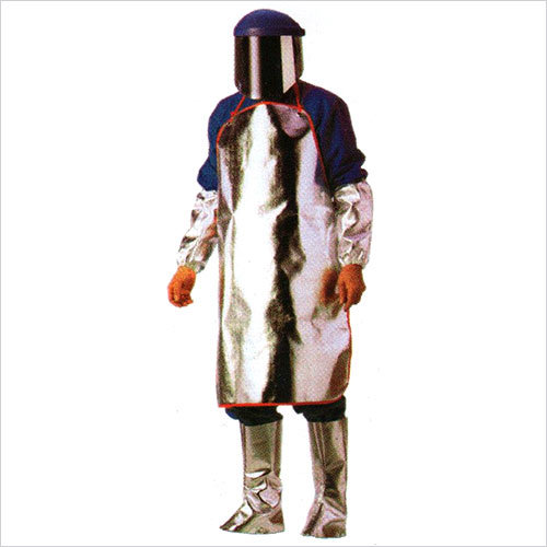 Aluminized Apron Stitched With Kevlar Thread