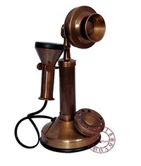 Home Decor Brass Antique Telephone Small Size