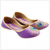 Ladies Purple Punjabi Jutti