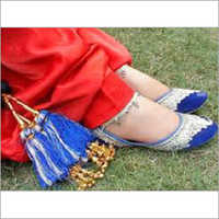 Ladies Light Blue Punjabi Jutti